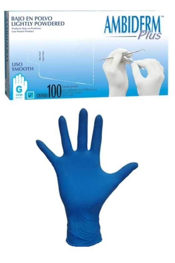 Caja de Guante de Látex Azul