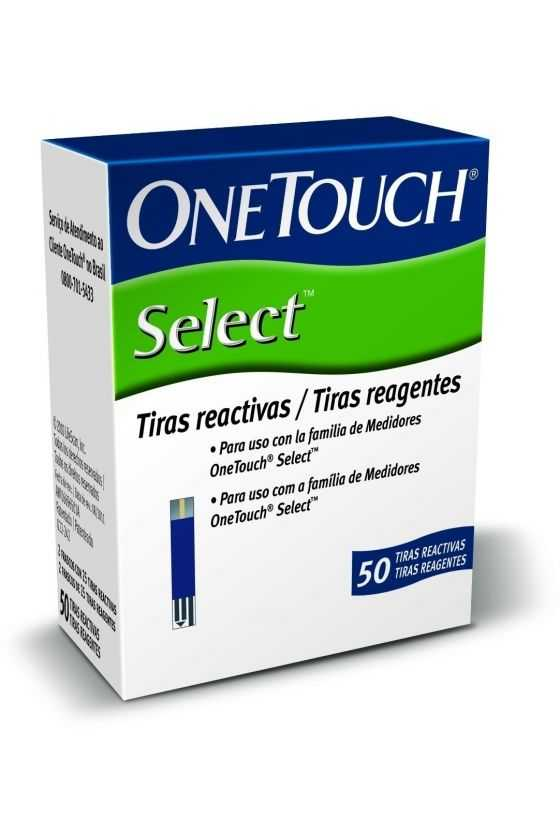 Tiras Reactivas One Touch Select. 50 Pzas