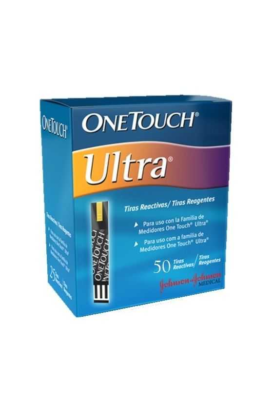 Tiras Reactivas One Touch Ultra. 50 Pzas