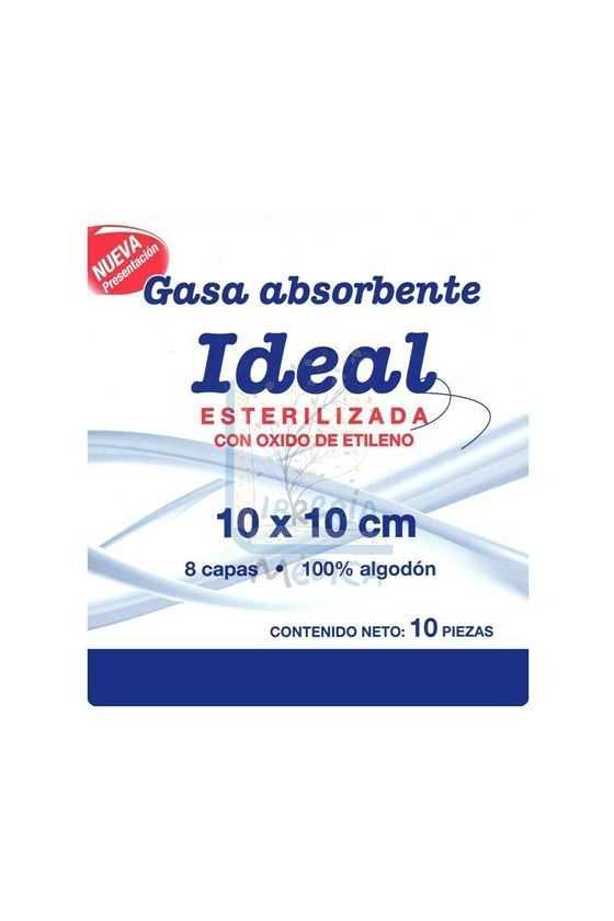 Gasa Estéril Ideal 10x10cm. 10 Pzas