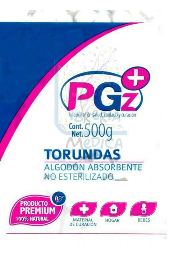 Bolsa Torundas Algodón. 500 grs.