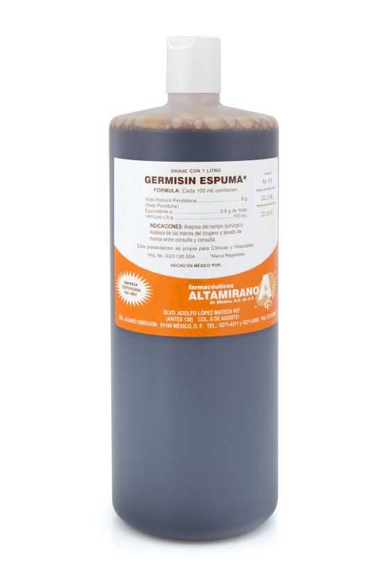 Isodine Espuma / Germisin / Yodopovidona 1L