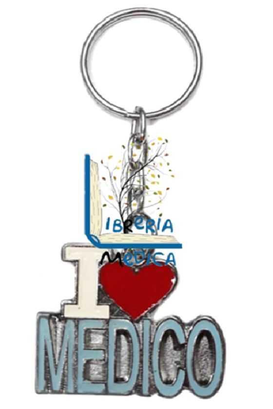 Llavero I Love Médico Azul
