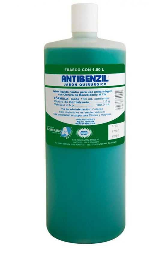 Jabón Quirúrgico Antibenzil 1L