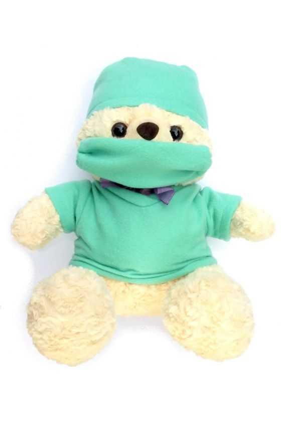 Oso de Peluche Quirúrgico Verde